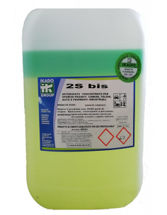2Sbis - detergente per lavaggio esterno autoveicoli, camion, sponde, teloni, motori etc da sporco stradale, bicomponente