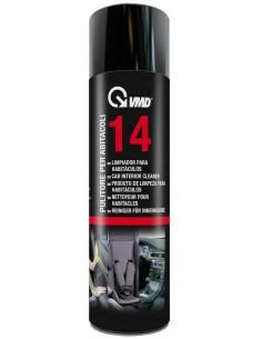 Spray abitacolo detergente universale VMD 14 per superfici opache e gommose. Ottima resa su vetro, plastica etc.