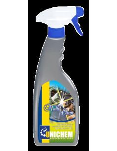 Multi Clean detergente pelle, stoffa per interno autovetture. Ridona un effetto brillante sulla superficie trattata.